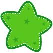 초록색별 템플릿