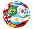 세계국기들과 축구공 템플릿