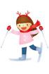 스키타는 여자아이 템플릿