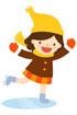 스케이트타는 여자아이 템플릿