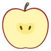 사과반쪽 템플릿