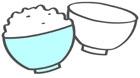 밥과 그릇 템플릿