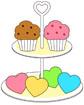 컵케익과 과자 템플릿