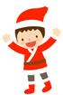 산타옷입은 남자아이 템플릿