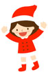 산타옷입은 여자아이 템플릿