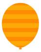 주황색줄무늬풍선 일러스트/이미지