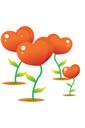 하트 꽃 템플릿