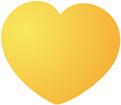 노란색 하트 템플릿