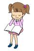 책읽는소녀 템플릿