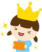 왕관쓴 여자아이 템플릿