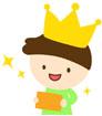 왕관쓴 남자아이 템플릿