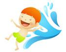 물놀이하는 남자아이 템플릿