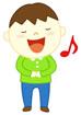 노래부르는 남자아이 템플릿
