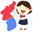 대한민국지도와 북한아이 템플릿