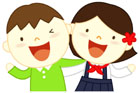 어깨동무한 남한아이와 북한아이 템플릿