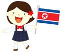 인공기 든 북한아이 템플릿