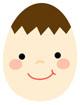남자아이얼굴달걀 템플릿