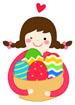 달걀바구니들고있는여자아이 템플릿