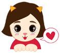 고양이 흉내내는 여자아이 템플릿