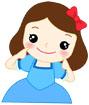 웃고있는 여자아이 템플릿