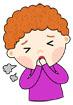 기침하는남자아이 템플릿