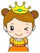 왕관쓴여자아이 템플릿