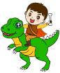 공룡을탄남자아이 템플릿