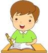 공부하는남자어린이 템플릿
