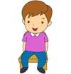 앉아있는남자어린이 템플릿