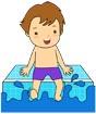 물놀이하는남자아이 템플릿