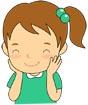 웃고있는여자어린이 템플릿