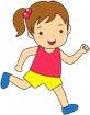 달리기하는여자아이 템플릿