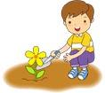 꽃을심는남자아이 템플릿