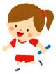 달리기하는여자아이 일러스트/이미지