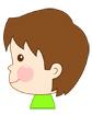 남자아이옆모습 템플릿
