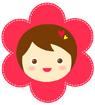 꽃탈쓴 여자아이 템플릿
