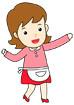 앞치마를 한 엄마 템플릿