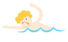 수영하는 남성 템플릿