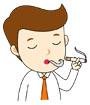 담배피우는남성 템플릿