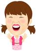 해맑게 웃는 여자 템플릿