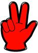 손가락숫자3 템플릿