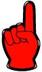 손가락숫자1 템플릿