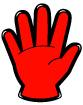 손가락숫자5 템플릿