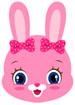 핑크색 토끼얼굴 템플릿