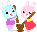 떡방아 찧는 토끼 템플릿