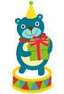 선물들고있는곰 템플릿