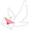 비둘기와 편지 템플릿