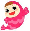 분홍색웃는물고기 템플릿
