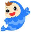 파란색웃는물고기 템플릿