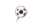 압정모양의 한국국기 템플릿